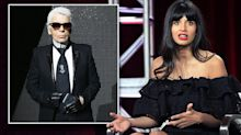 Jameela Jamil calls Karl Lagerfeld a 'fatphobic misogynist' following his death