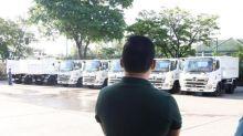 Mandaue turns over first batch of dump trucks to 9 barangays