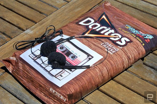 We destroyed a collectible Doritos bag to get at its hidden MP3 Player