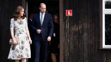 Duke and Duchess of Cambridge visit Nazi concentration camp
