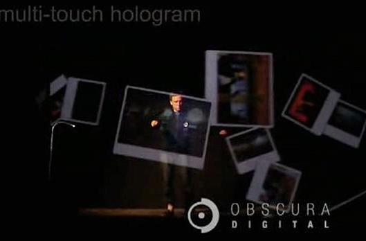 """Obscura Digital projects multi-touch """"hologram,"""" blows all sorts of minds"""