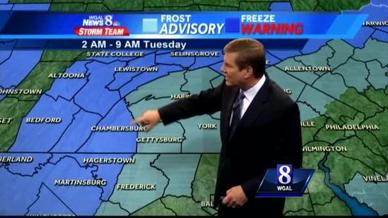Frost advisories in effect; Record cold possible tonight