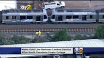 Power Outage Disrupts Metro Gold Line Service In South Pasadena