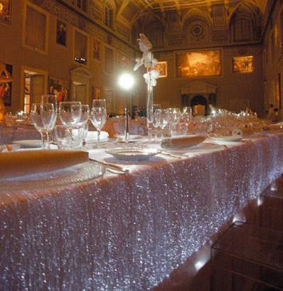 Fiber optic tablecloth: the new candlelit dinner