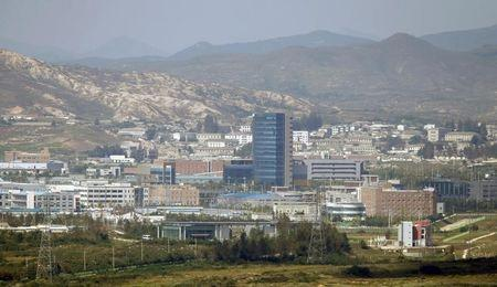 The inter-Korean Kaesong Industrial Complex is seen across the DMZ separating North Korea from South Korea in this picture taken from Dora observatory in Paju