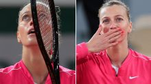 'Everything came back': Petra Kvitova breaks down at French Open