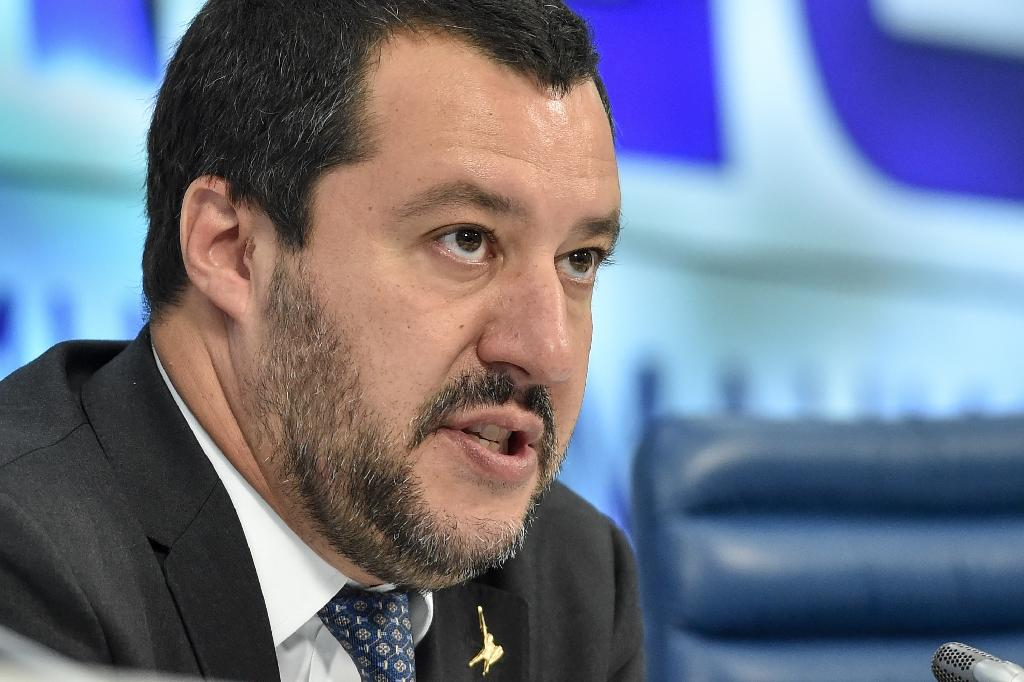 """Italy's Interior Minister Matteo Salvini says a new bill will """"reduce the costs of excessive immigration, expel delinquents and fake refugees, strip terrorists of citizenship (and) give the police greater powers"""""""