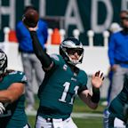 Carson Wentz's mechanics have his No. 1 supporter biting his nails