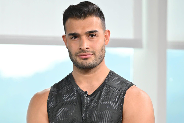 27-år gammel 188 cm høy Sam Asghari i 2021