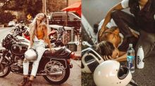 Blogger faces backlash over 'staged' photos taken during motorcycle accident