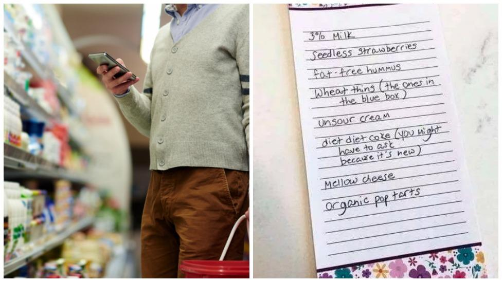 Woman send husband off shopping with fake list