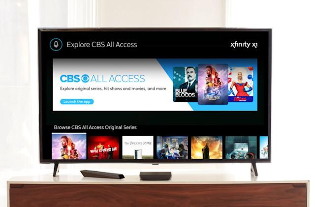 CBS All Access comes to Xfinity X1 set-top boxes