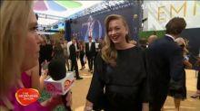 Emmy or baby? Yvonne Strahovski's brave Emmys appearance