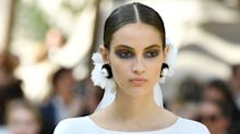 Chanel's Couture AW17 beauty look was punk in the front, business updo in the back