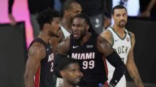 Bucks on the ropes, Heat look to finish historic sweep