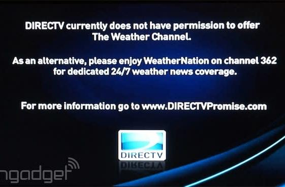 DirecTV drops The Weather Channel, accuses it of loading up on reality TV