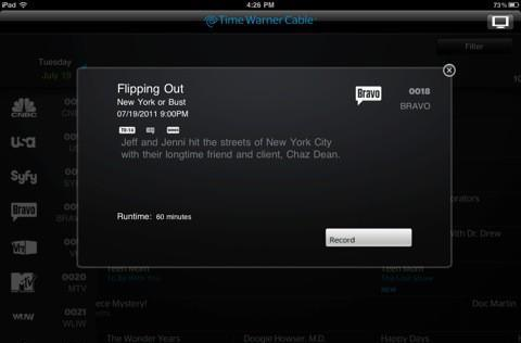 Time Warner Cable iPad app update stomps out a few bugs