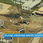 Historic small plane crashes, bursts into flames at state prison in Norco