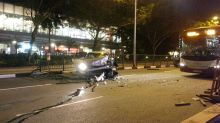 Lorry hits car on Balestier Road