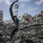 Palestinians go on strike as Israel, Hamas trade fire