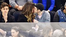 Pete Davidson and Kate Beckinsale Kiss and Share Laughs During Hockey Game in N.Y.C.