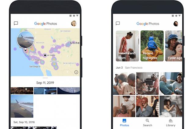 Google's redesigned Photos app includes a map view