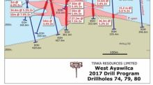 Tinka expands zinc mineralization at South & West Ayawilca