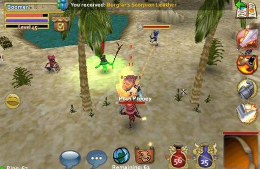 Pocket Legends offers paid content for free
