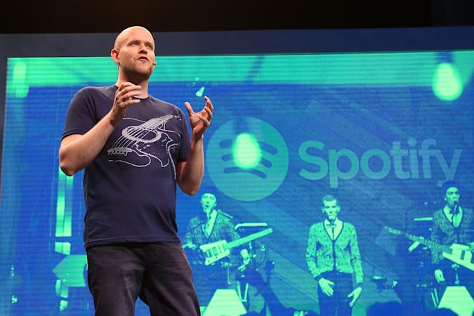 NEW YORK, NY - MAY 20:  Spotify founder Daniel Ek speaks during the Spotify New Platform Launch at S.I.R. Studios on May 20, 2015 in New York City.  (Photo by Taylor Hill/FilmMagic)