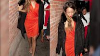 Rihanna Leaves Valentine's Day Night Out Without Chris Brown