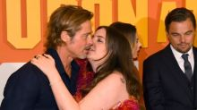 Lena Dunham surprises Brad Pitt with kiss at Once Upon a Time in Hollywood premiere