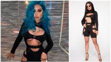 Bizarre buckle-up bodysuit mocked online