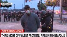 Protestas en Minneapolis: arrestaron en vivo a un periodista de la CNN que transmitía desde el lugar