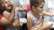 Garotinha viraliza com reação exagerada ao tirar sangue