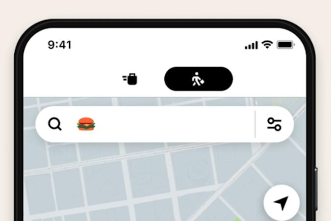 Emoji search for food in Uber Eats