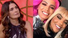 """Fátima pede reconciliação entre Anitta e Ludmilla: """"Dois talentos"""""""
