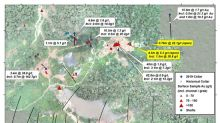 Cabral samples 9.5m @ 5.3 g/t gold including 1.5m @ 30.8 g/t gold, extending the new Machichie discovery 180m to the east. Drill program expanded