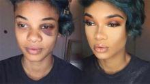 Woman's makeup transformation sheds light on mental illness