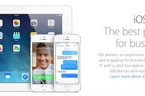 Business is cozying up to iOS 7