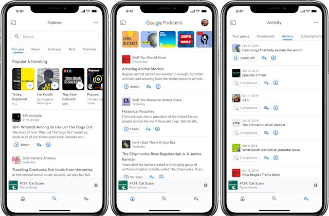 Google Podcasts app comes to iOS as part of a larger redesign