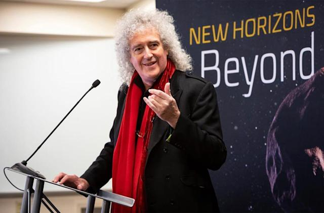 Queen guitarist Brian May wrote a song for NASA's historic flyby