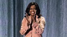 Michelle Obama Wears the Millennial Pink Suit of Our Dreams