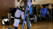 Paralyzed man walks again with bionic suit