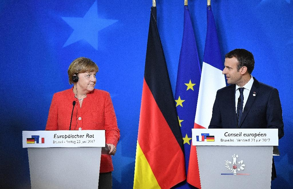 'Emmangela': German Chancellor Angela Merkel and French President Emmanuel Macron stage a joint press conference after the EU summit, projecting their will to drive Europe's leadership after the shock of Brexit