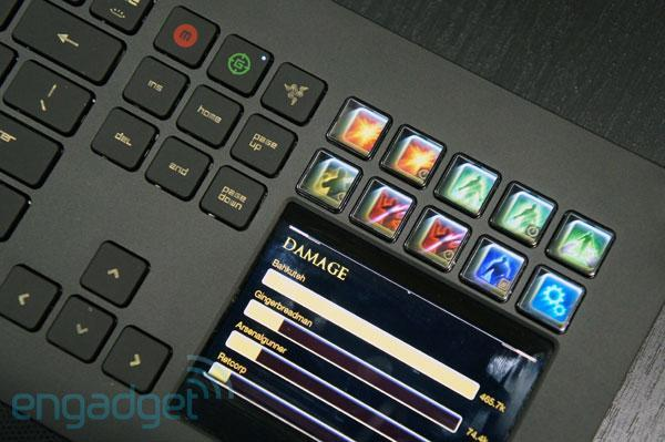 Razer Deathstalker gaming keyboard announced, packs Switchblade UI LCD panels (hands-on)