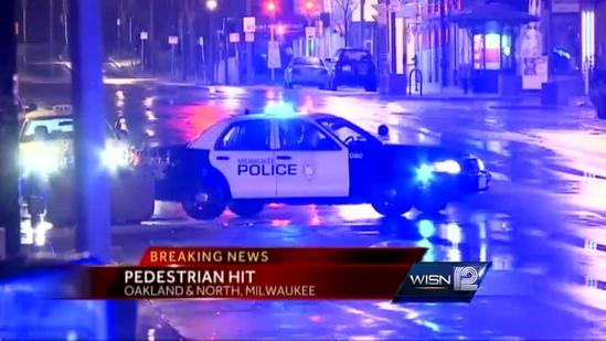 Car hits pedestrian in Milwaukee