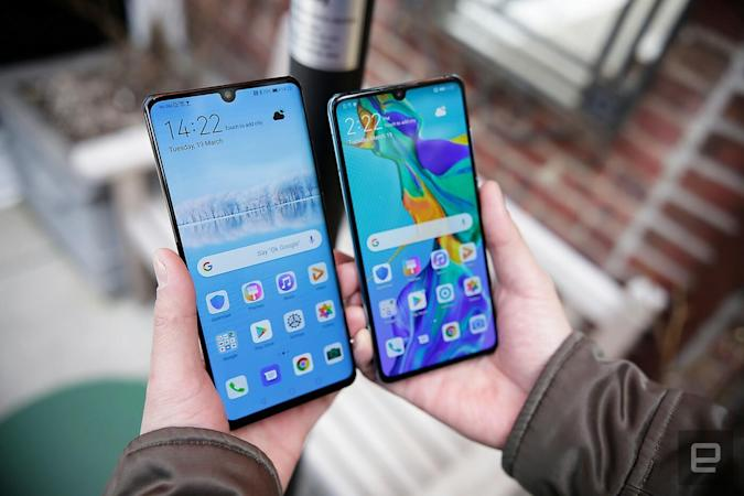 Huawei P30 and P30 Pro running Android