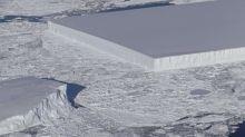 Antarctique: La Nasa photographie un étrange iceberg rectangulaire