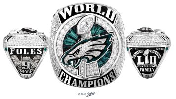 The Eagles put a Super Bowl ring on her finger