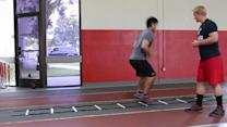 Soccer Speed: Ladder Split Drop